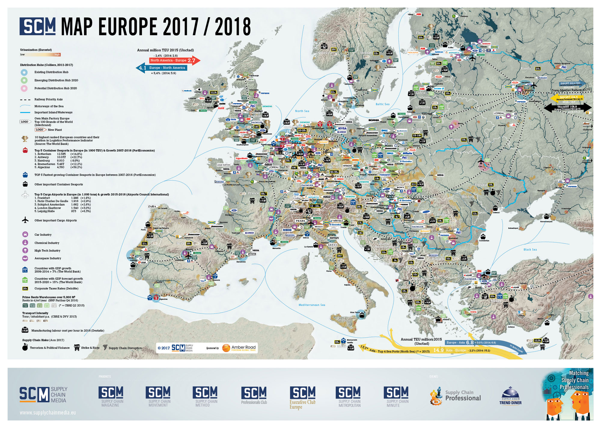 Europe map | Supply Chain Media